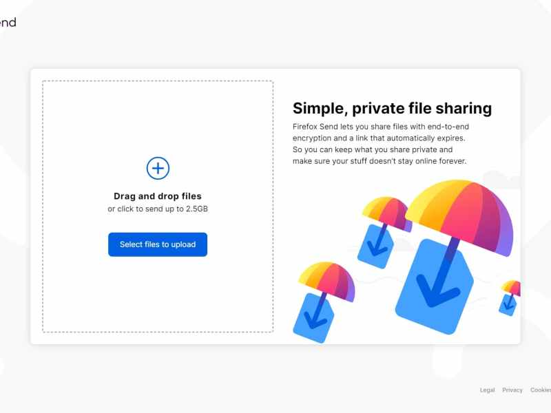 Firefox Send Makes Sensitive File Sharing Easier