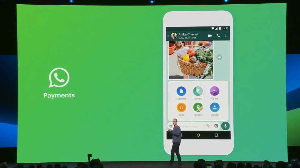 WhatsApp Payments at F8 2019