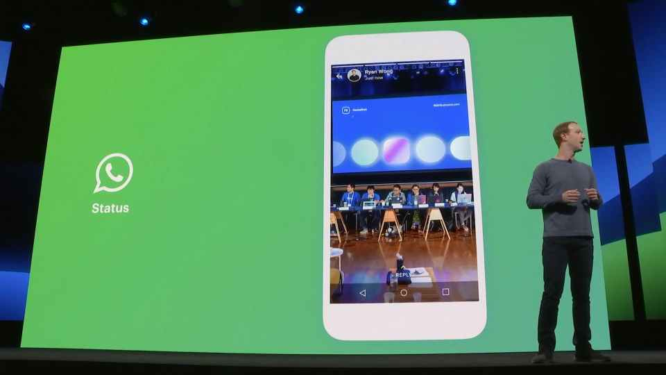 Mark Discuss About WhatsApp Status Feature at F8 2019