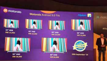 Motorola Introduces its first range of Smart Televisions in India