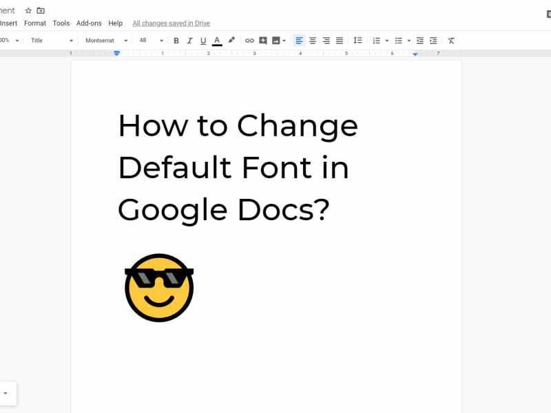 Change Default Font Google Docs