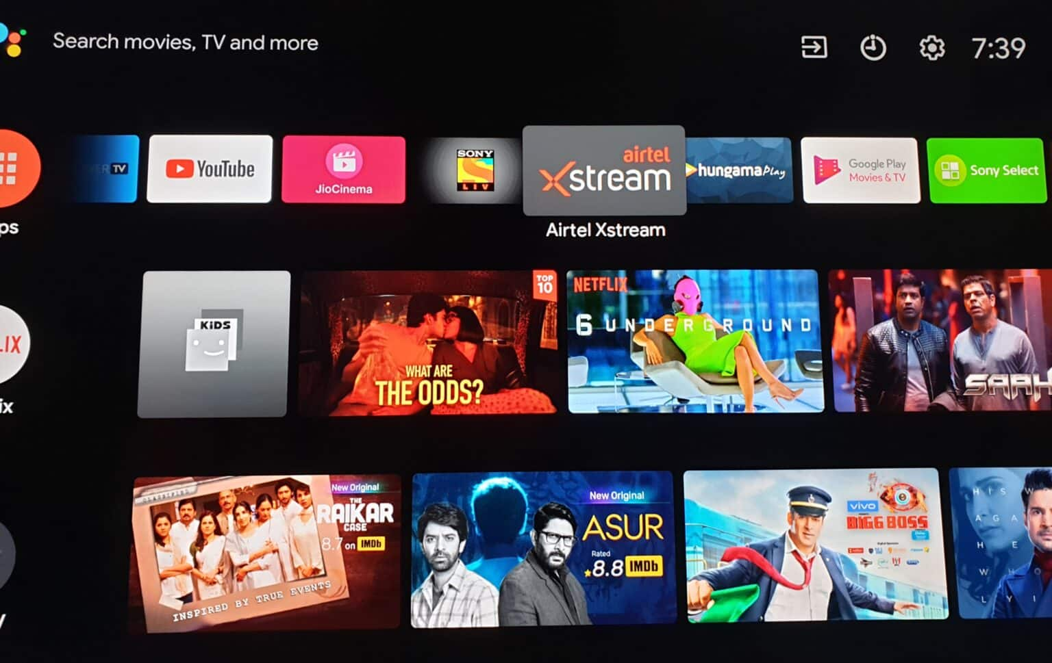 Now Watch Airtel XStream Movies and TV Shows on your big screen Android TV