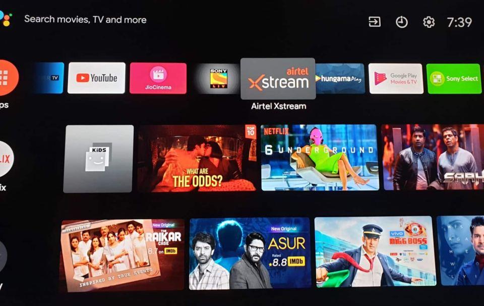 airtel xstream app on android tv