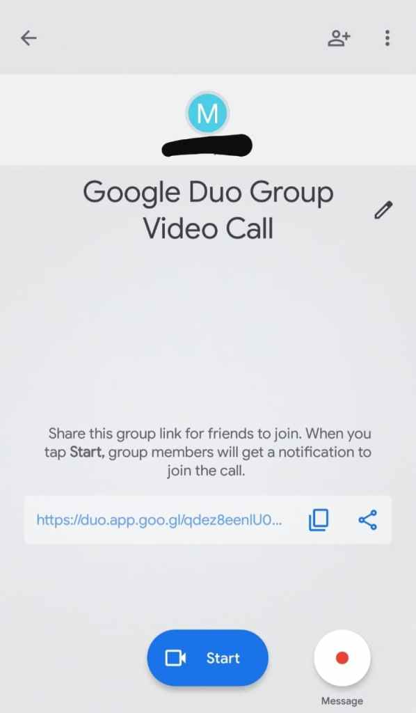Google Duo Group Video Call Invite Link