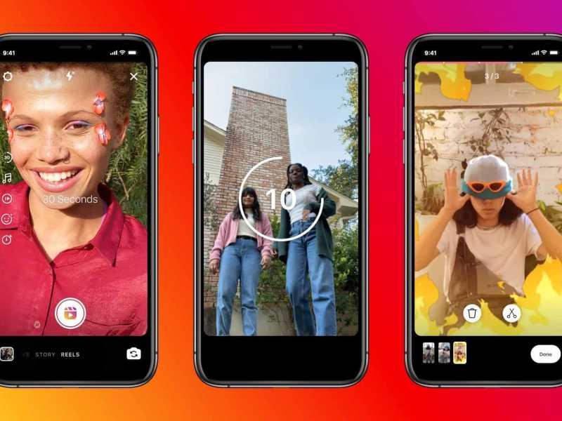 Create Instagram Reels upto 30 seconds
