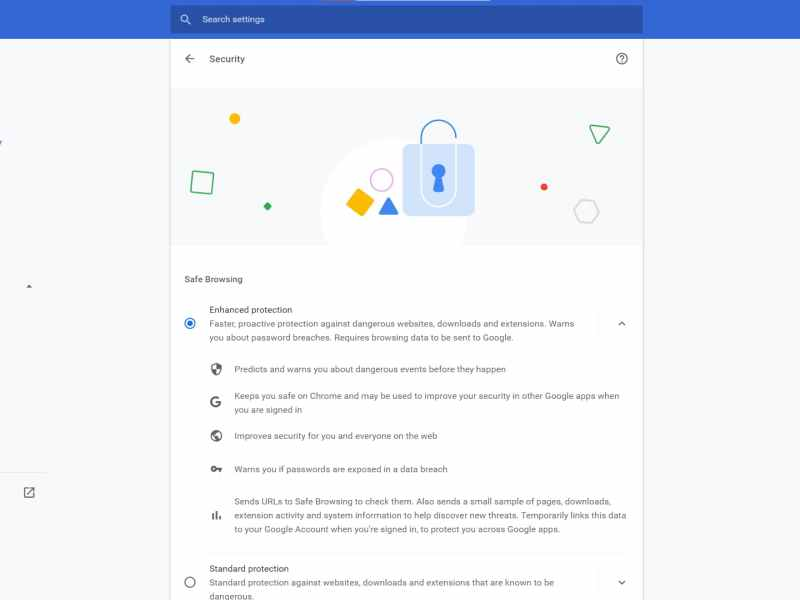 Google Chrome Enhanced Protection Feature