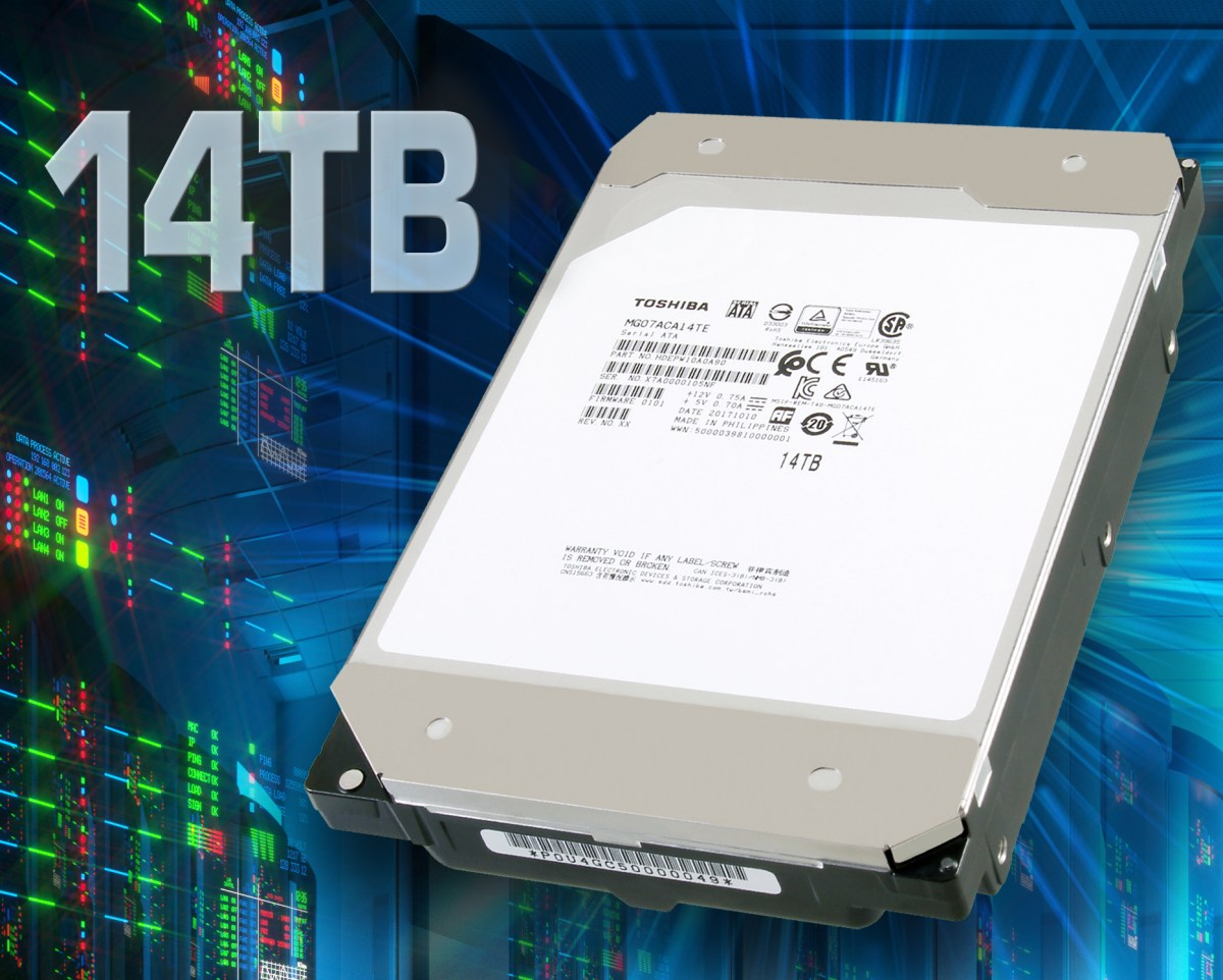 The World's First 14TB HDD by Toshiba Enters the Market with Conventional Magnetic Recording