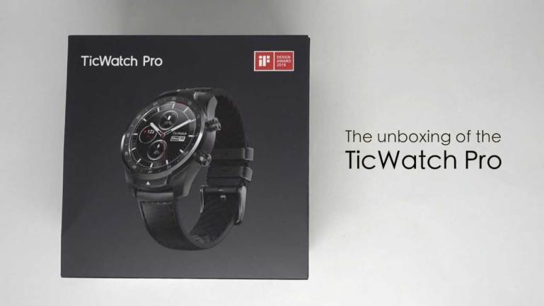 The unboxing of the TicWatch Pro