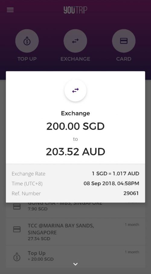 Currency Exchange - YouTrip