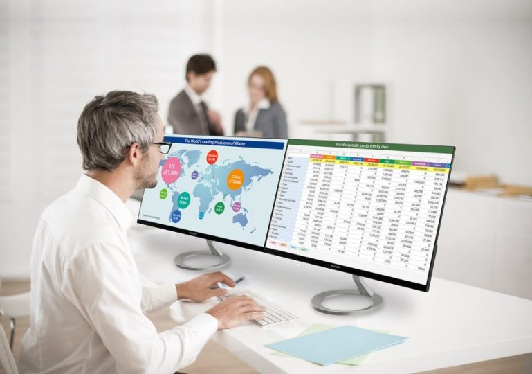 New space-saving desktop monitors from Sharp | Tech Coffee House