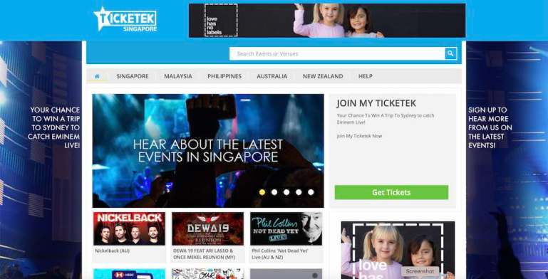 Ticketek Singapore opens new portal for entertainment fans in South-East Asia   Tech Coffee House