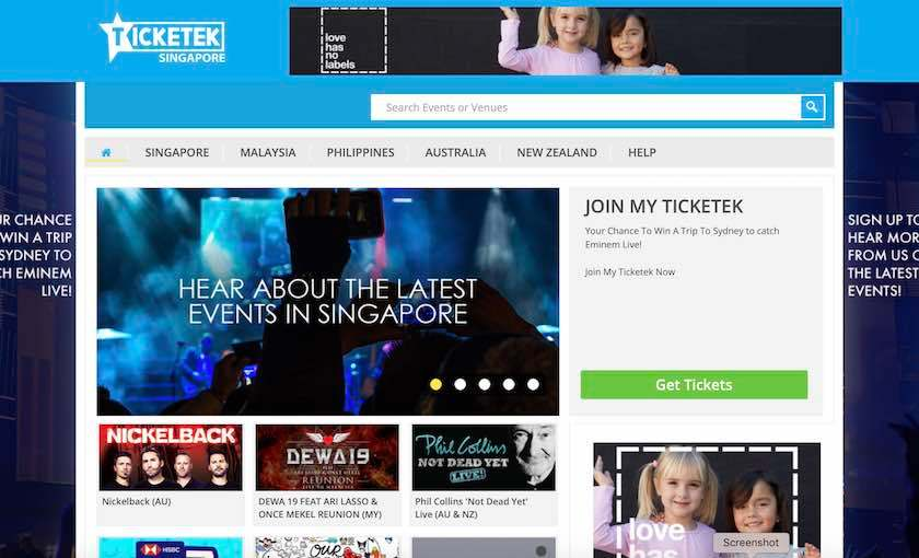 Ticketek Singapore opens new portal for entertainment fans in South-East Asia | Tech Coffee House