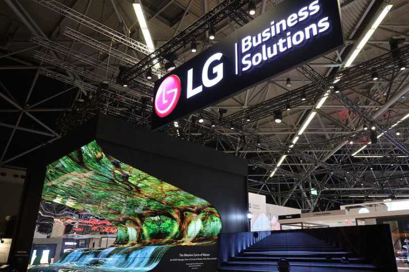 LG ISE 2019 Booth