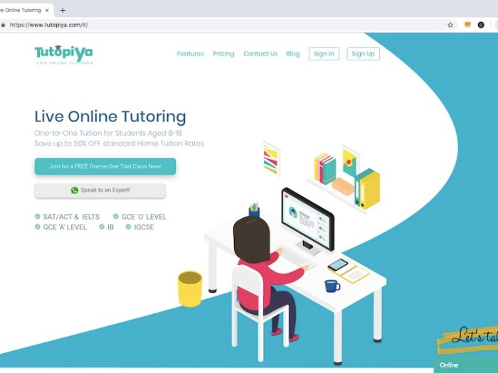 Tutopiya officially launches live online tutoring service in Singapore
