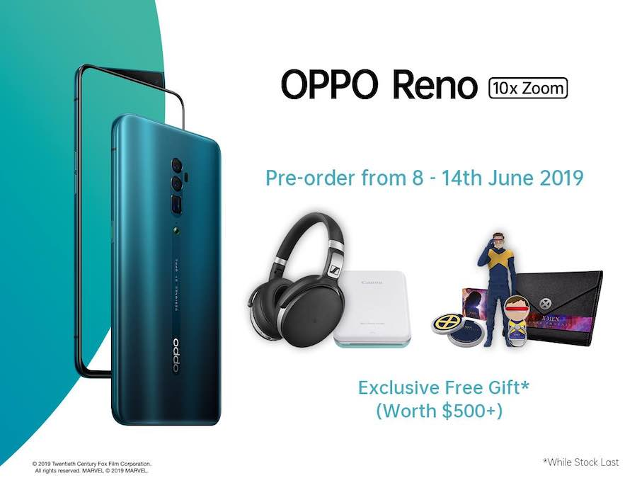 OPPO Reno available for pre-order in Singapore with free gifts worth over $500