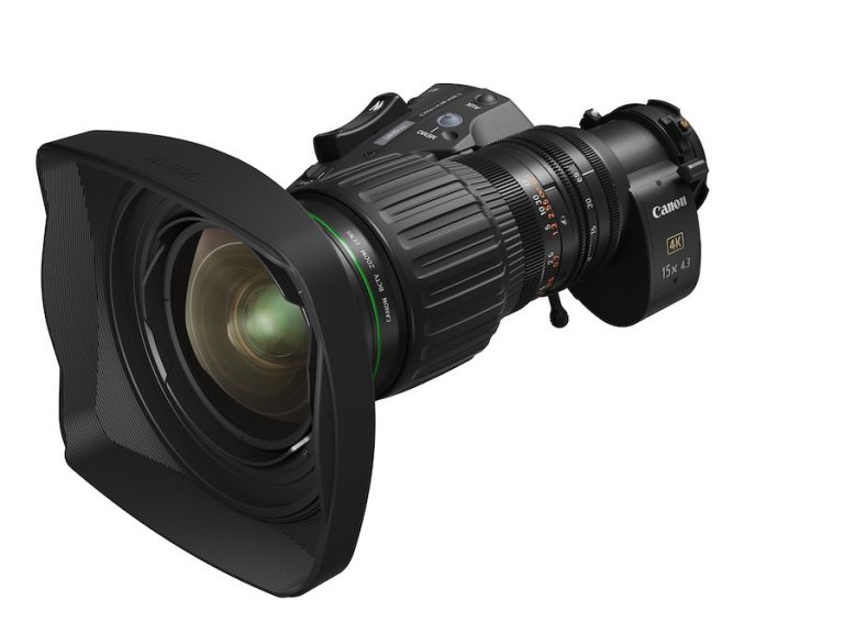 Canon unveils new portable zoom lens for 4K broadcast cameras