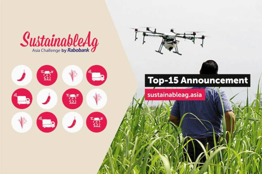 Rabobank announces Top 15 Agri-tech Start-ups and Innovators  for SustainableAg Asia Challenge