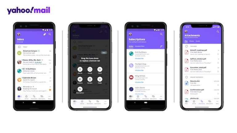 YAHOO Mail reimagines the inbox of the future