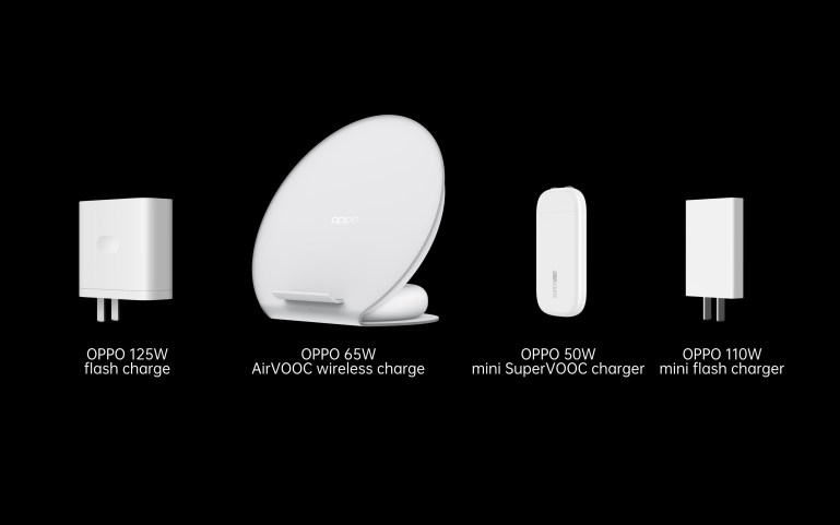 OPPO launches next generation 125W flash charge, 65W AirVOOC wireless flash charge and 50W mini SuperVOOC charger
