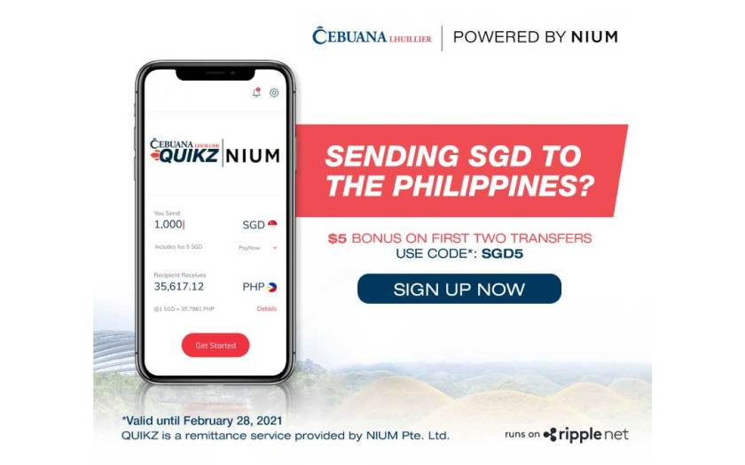 Nium and Cebuana Lhuillier Launch Quikz in Singapore to Expand Remittance Capabilities for Filipino Users