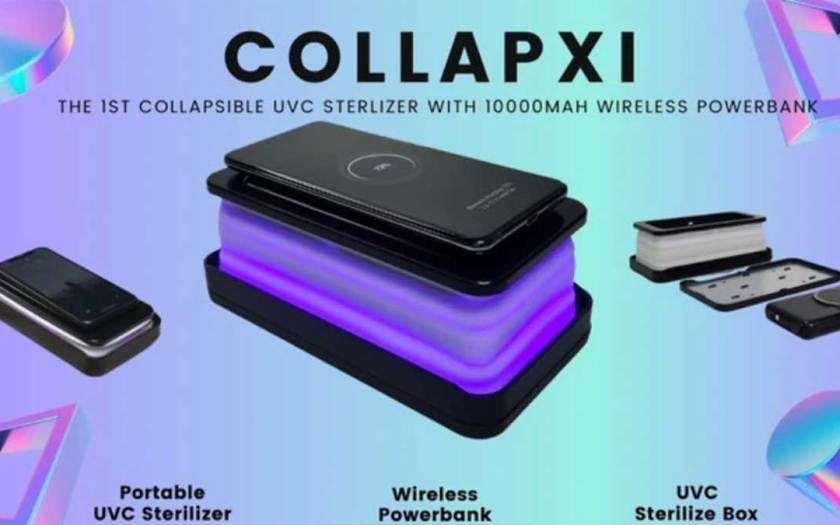 COLLAPXI: Collapsible UVC Steriliser and 10,000 mAh Power Bank