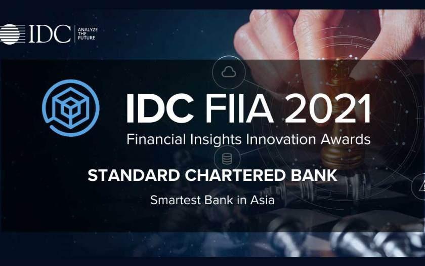 "Standard Chartered Bank Wins IDC's ""2021 Smartest Bank in Asia"" Award with SAS Solution"