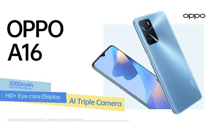 OPPO unveils OPPO A16 in Singapore, functional and stylish
