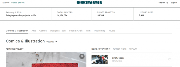 Startup funding can be done through Kickstarter