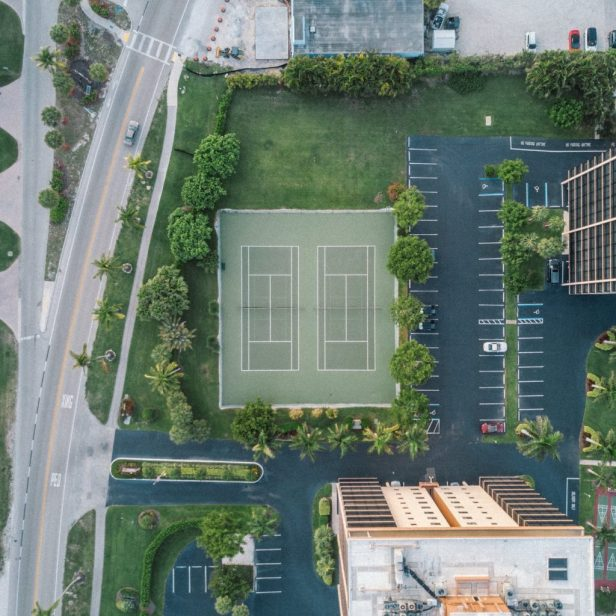 Photo from an aerial drone