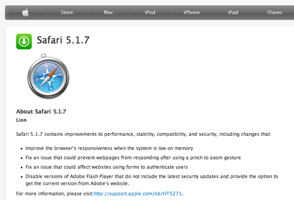 Download Safari 5.1.7