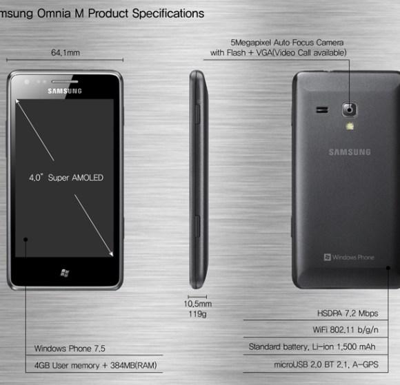 Samsung Omnia M specs