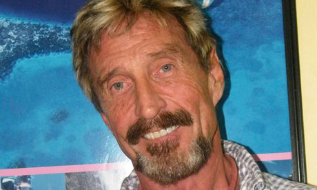 John McAfee … 'He's clearly trying to mess with everybody's heads.'