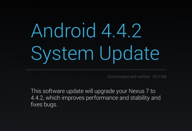 Android 4.4.2 (KOT49H) Update
