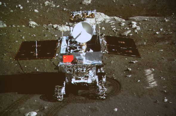 China Spacecraft on Moon