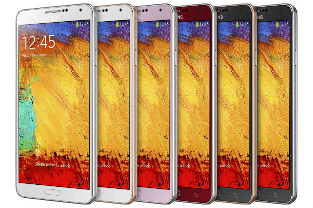 Samsung Galaxy Note 3 Colours