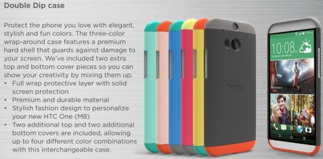 HTC One M8 Double Dip case