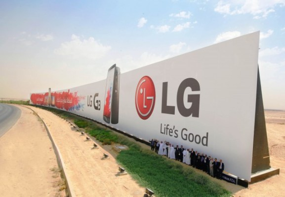 LG G3 Billboard Ad