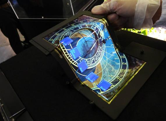 SEL foldable tablet display
