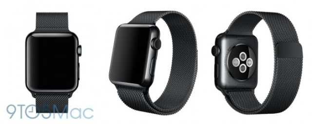 Ένα από τα νέα μοντέλα του Watch που έχει διαρρεύσει (Space Black Stainless Steel).