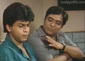 Wagle Ki Duniya, with Anjan Srivastav, Bharati Achrekar and Shahrukh Khan. Photo courtesy of nostalgic902.com