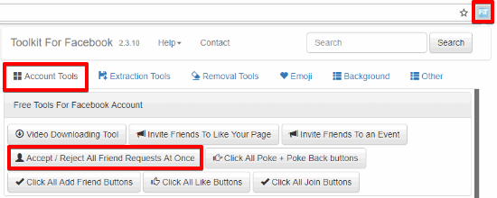 toolkit for facebook extension
