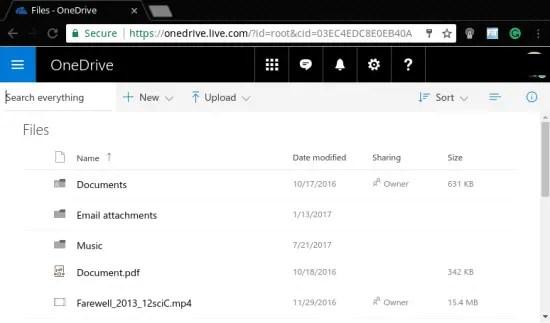 Microsoft OneDrive 5 GB free cloud storage provider