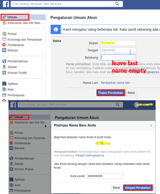 How to hide or remove last name on facebook 2019 - How to