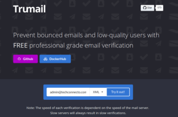 Bulk Verify Email Address using Trumail's Free Verification API