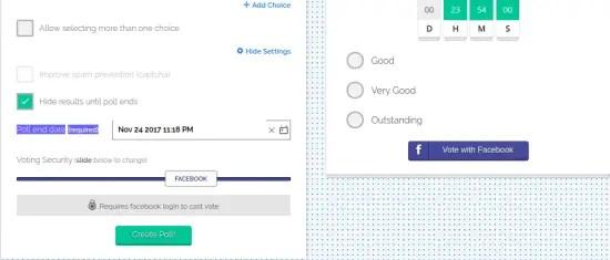 polltab poll settings