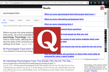 Get List of Questions from Quora for the Topic you are Reading, Browsing