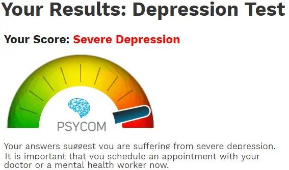depression result