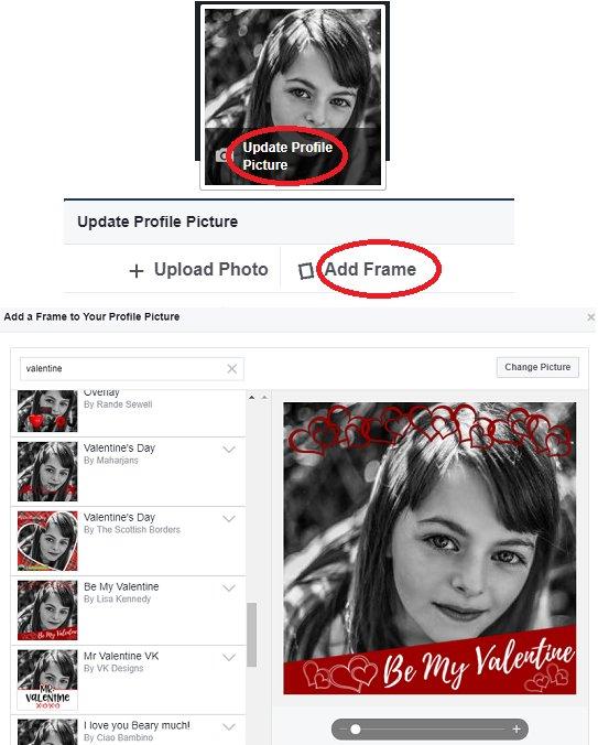 Facebook valentine's day frame filter