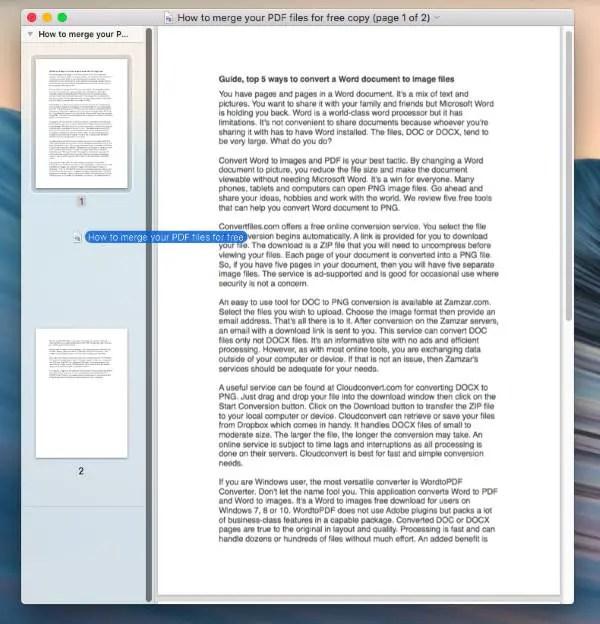 free pdf file merger for mac