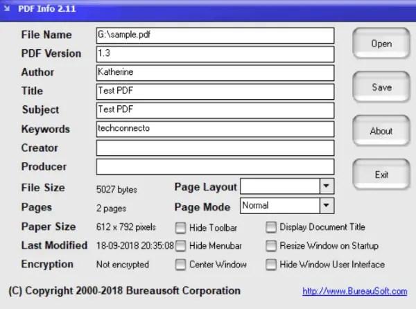 pdf info pdf metadata editor